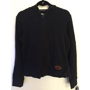 Black Harley Davidson Women's Zip Up Hoodie